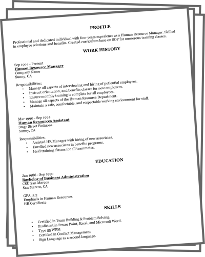 Quick resume maker